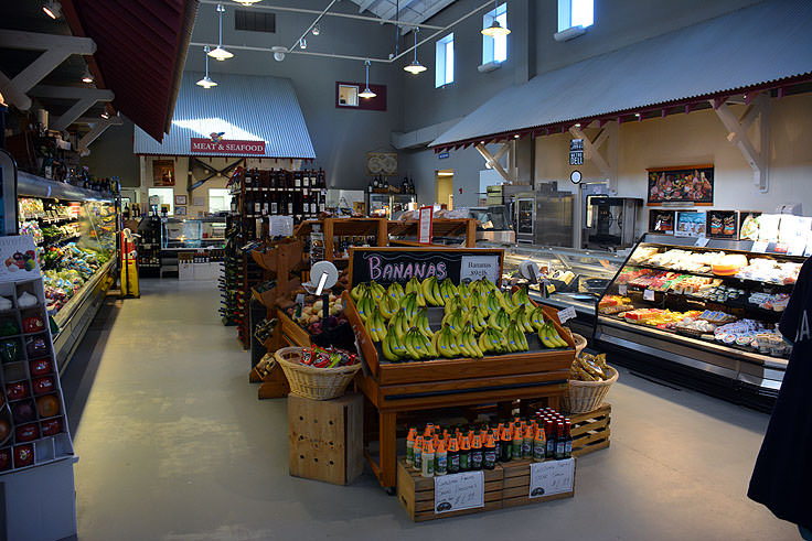 Maritime Market is a high-end grocery store on Bald Head Island
