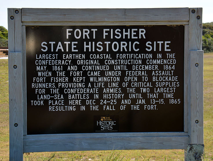 Fort Fisher State Historic Site sign