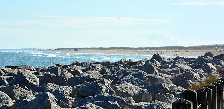 Rocks protect Fort Fisher