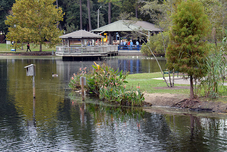 The pond at Mclean Park in Myrtle Beach, SC