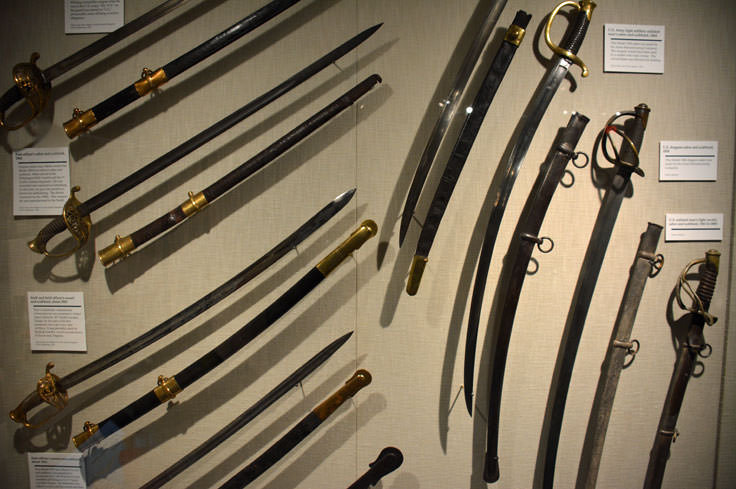 A sword exhibit at the Cape Fear Museum in Wilmington, NC