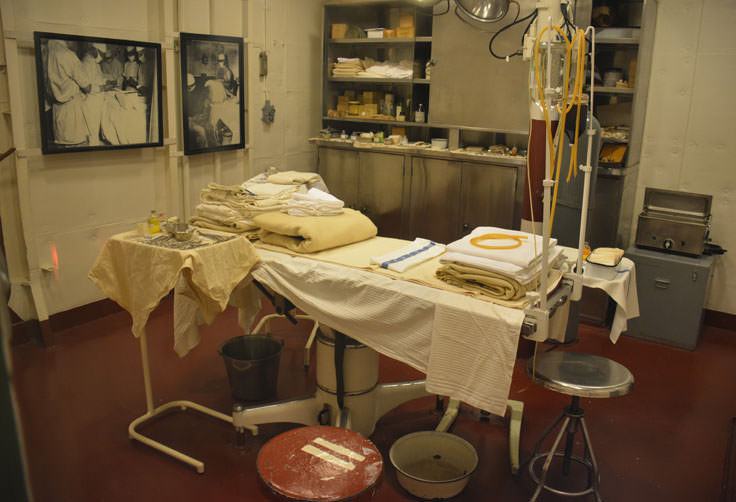 Medical facilities on the USS North Carolina in Wilmington, NC