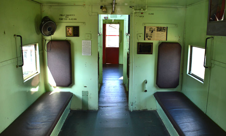 Walk aboard a real (stationary) train at the Wilmington Railroad Museum
