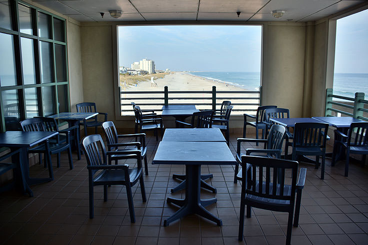 Dining room at Johnny Mercer's Pier in Wrightsville Beach, NC