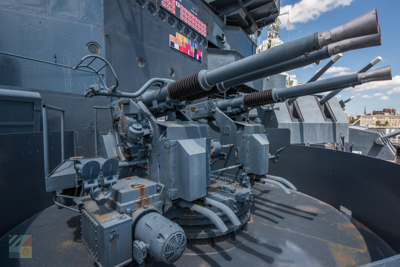Tour above and below deck on the USS North Carolina