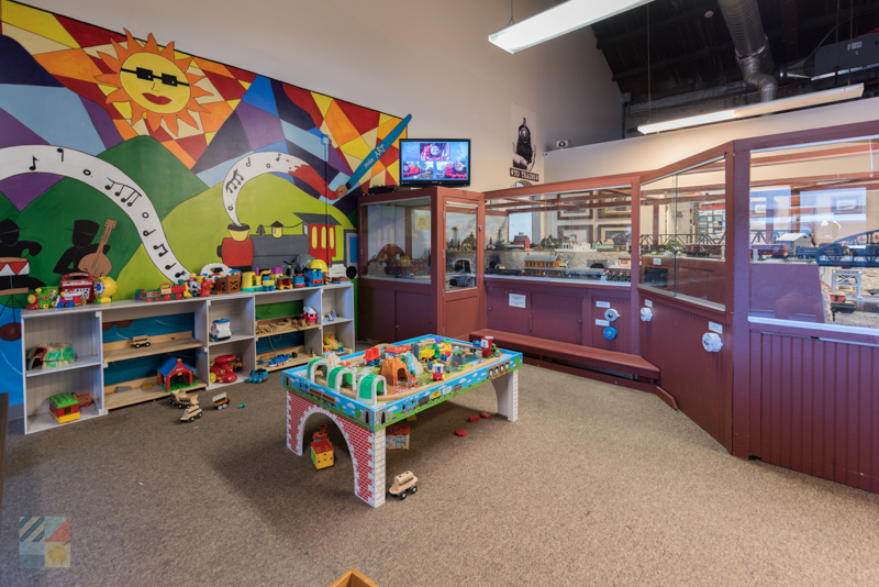 Kids play area at the Wilmington Railroad Museum