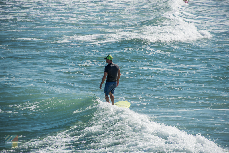 Surfing in Wrightsville Beach