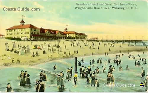 Vintage illustrations and photos of Wrightsville Beach, NC